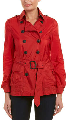 Burberry Short Belted Trench Coat