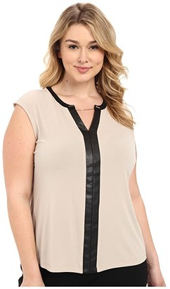 Calvin Klein Plus Plus Size Sleeveless V-Neck Chain Top