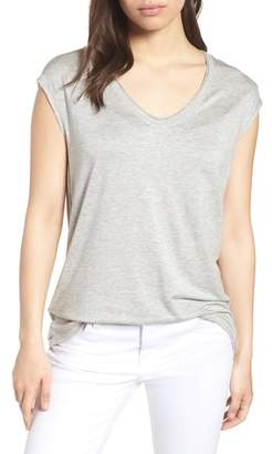 Caslon Off-Duty Sleeveless Stretch Knit Top