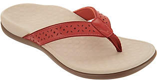 Vionic Leather Thong Sandals - TideAnniversary