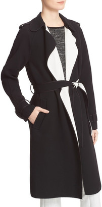 Theory Laurelwood Single Breasted Wrap Coat $655 thestylecure.com