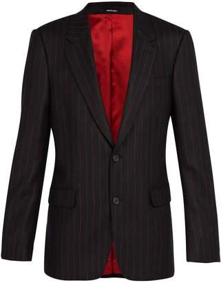 Alexander McQueen Single-breasted wool pinstripe blazer
