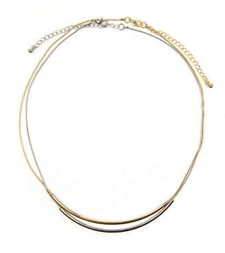 Arizona 2-pc. Two-Tone Curved Tube Necklace