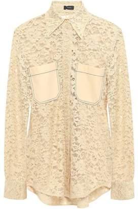 Joseph Robin Cotton-blend Leavers Lace Shirt