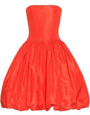 Oscar de la Renta Flared Silk-taffeta Dress