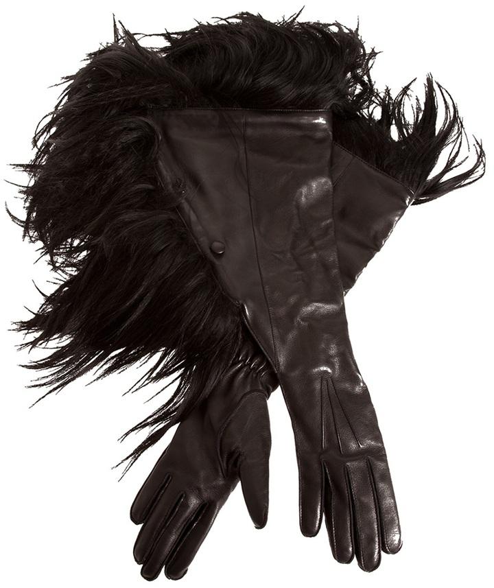 Ann Demeulemeester Goat fur gloves