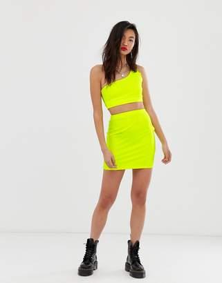 Asos Design DESIGN neon bodycon mini skirt