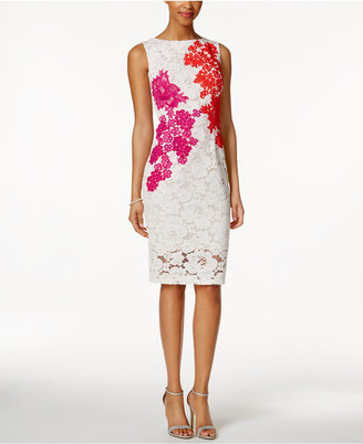 JAX Embroidered Floral Lace Illusion Dress $178 thestylecure.com