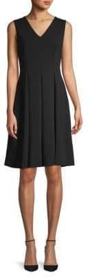 Calvin Klein Mesh-Back A-Line Dress