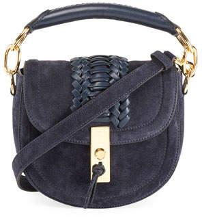 Altuzarra Mini Braided Top-Handle Saddle Bag, Blue