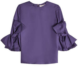 Roksanda Silk Blouse with Bow Detail