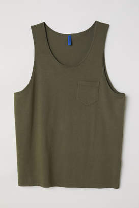 H&M Tank Top with Chest Pocket - Green