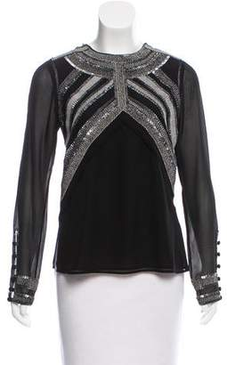 Derek Lam Embellished Long Sleeve Top