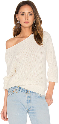 Callahan Waffle V Back Sweater in White $128 thestylecure.com