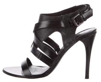 Vera Wang Lavender Label Leather Caged Sandals