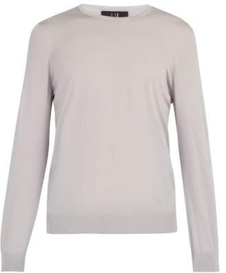 Dunhill Lightweight Wool Crew Neck Sweater - Mens - Grey