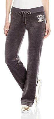 Juicy Couture Black Label Women's Logo Velour Crown Jewel Bootcut Pant $158 thestylecure.com