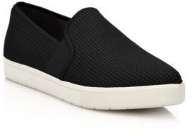 Vince Pierce 2 Perforated Leather Slip-On Sneakers $225 thestylecure.com