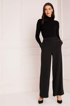 1aec5335c7 Next Lipsy Horn Button Tailored Wide Leg Trousers - 4
