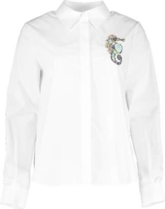 Mary Katrantzou Embroidered Seahorse Shane Shirt