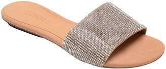 Schutz Queren Embellished Slide Sandal