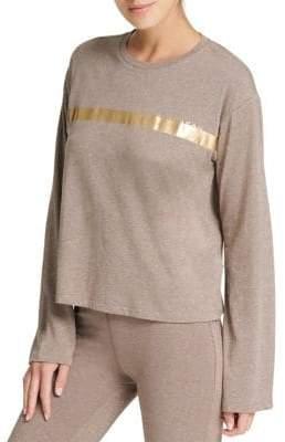 Donna Karan Active Foil Long-Sleeve Sweater