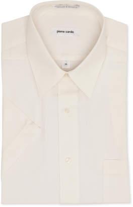Pierre Cardin Short Sleeve Cream Dress Shirt