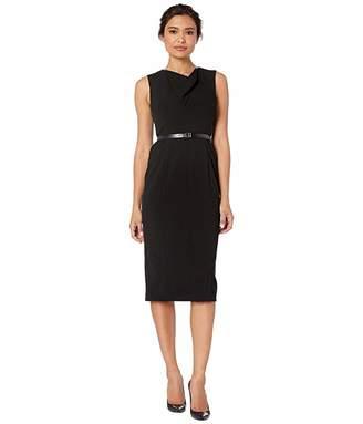 Calvin Klein Sheath Dress w Logo Belt