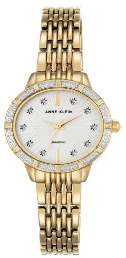 Anne Klein Women's Anne Klein Oval Diamond Bracelet Watch, 28Mm