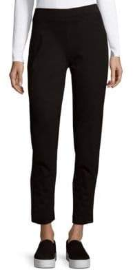 Seamed Pull-On Ankle Pants