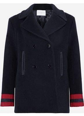 Cynda Double-Breasted Wool-Blend Coat