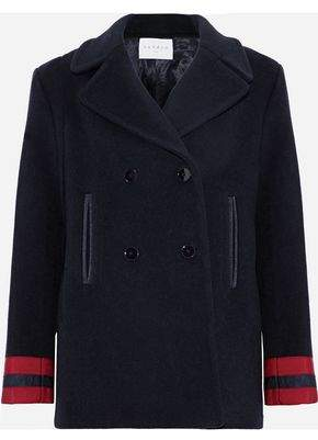 Sandro Cynda Double-Breasted Wool-Blend Coat