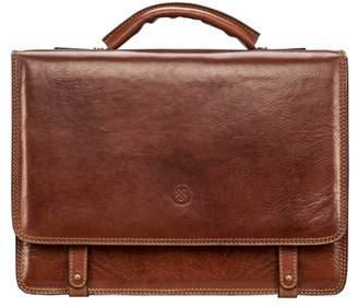 6914ec8a0b0 Maxwell Scott Bags Italian Tan Men S Leather Satchel Briefcase Bag