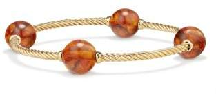 David Yurman Mustique Four Station Bangle Bracelet With Amber In 18K