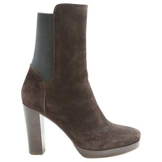 Vanessa Bruno Brown Suede Ankle boots