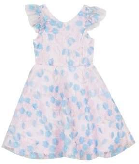 c2c661190858b Rare Editions Little Girl's Floral Flutter A-Line Dress