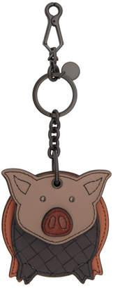 Bottega Veneta Pink Pig Charm Keychain