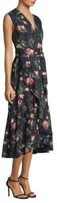Rebecca Taylor Floral-Print Wrap Dress