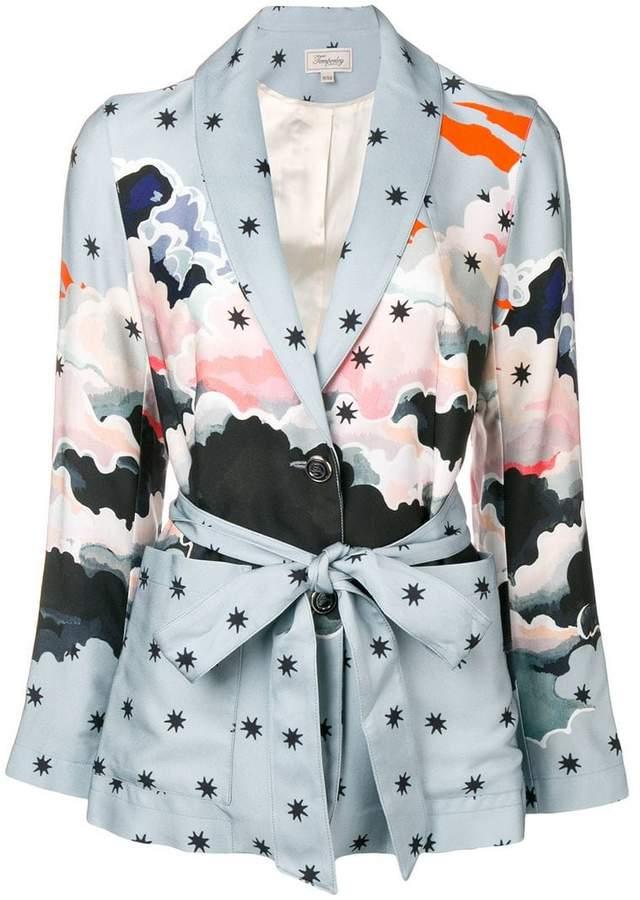 Cloud printed blazer