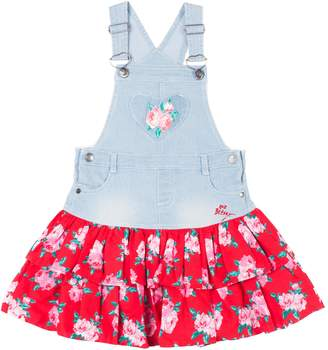 Betsey Johnson Roses Tiered Overall Dress