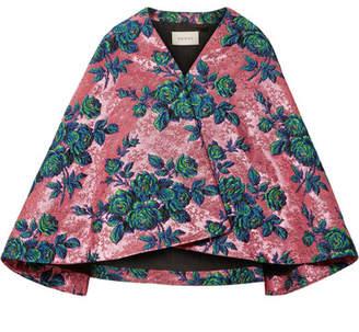 Gucci Floral Brocade Cape - Pink