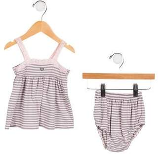 Lili Gaufrette Girls' Striped Bloomers Set