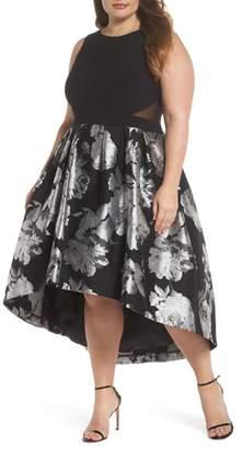 Xscape Evenings Brocade High/Low Dress