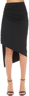 Paco Rabanne ASYMMETRIC LIGHT JERSEY MIDI SKIRT
