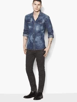 John Varvatos Cloud-Wash Denim Shirt