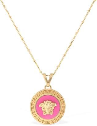 Versace Enameled Medusa Necklace