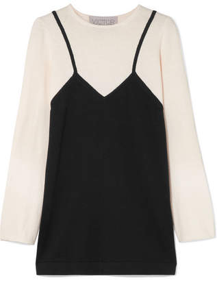 Victor Glemaud - Two-tone Cotton And Cashmere-blend Tunic - Black