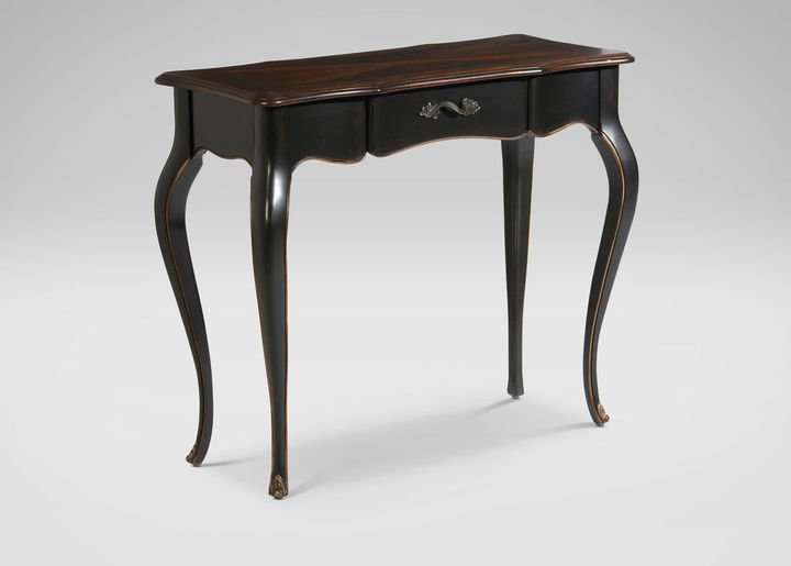 Ethan Allen French Black Console Table