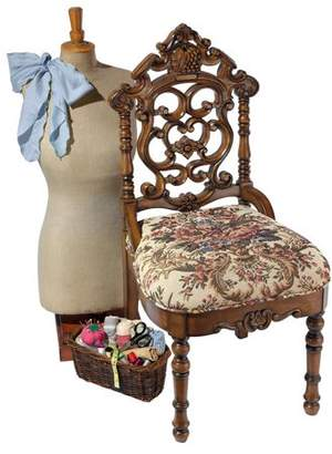 Toscano Design Victorian Sewing Stool Petite Chair