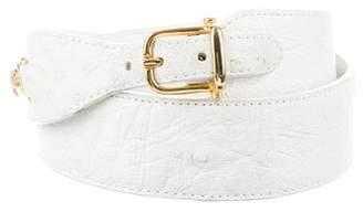 Celine Ostrich Waist Belt